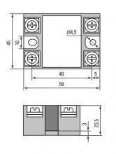 габариты RTP-60-DA  EKF