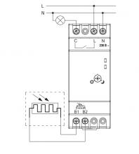 схема подключения фотореле DIN 1 ФР