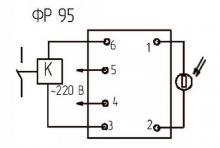 схема подключения ФР 95