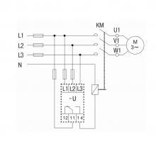 схема реле контроля фаз ORF-06 IEK