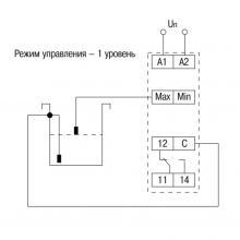 схема контроля одного уровня реле ORL-02