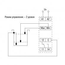 схема контроля двух уровней реле ORL-02