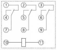 схема контактов рп 53