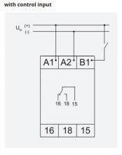 схема подключения с управляющим контактом V2ZM10