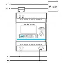 схема подключения амперметра A-05(DC)
