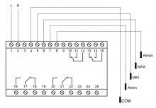 схема подключения pz 832